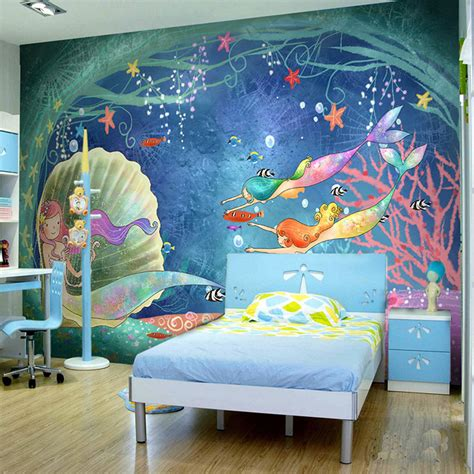 tropical fish home decor custom 3d mural wall paper children s room cartoon animal