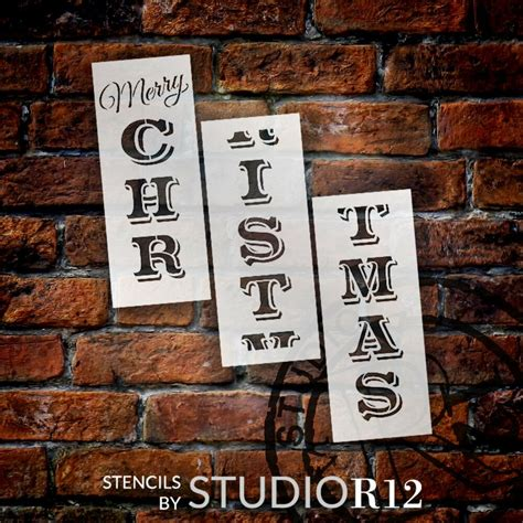 large  merry christmas stencil  painting  wood reusable ideal  ebay