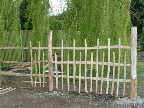 rustic chestnut fencing alternating pattern of pickets and flickr