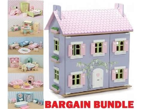 lavender dolls house le toy van the lavender dolls house bargain bundle h108bd 163 198 99