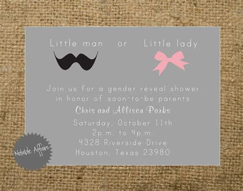 gender reveal invitation template 7 best images of gender reveal bbq free printables