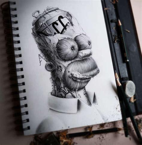 dibujos realistas graffitis libreta de dibujos que son bocetos pero no lo parecen de pez