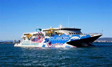 boat ride from miami to freeport bahamas fast ferry to the bahamas balearia caribbean groupon