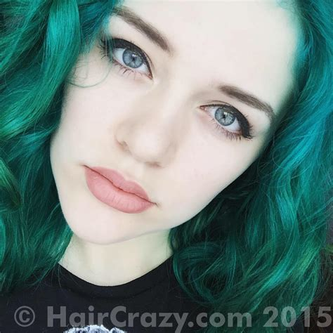 Manic Panic Lified Nyc Hair Colouring Enchanted Forest dying my green hair grey with nirvel artx forums haircrazy