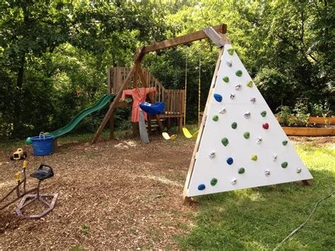swing set with climbing wall pin by jess heimer on for ryan pinterest