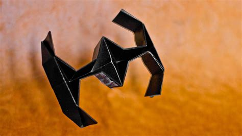 Origami Wars Tie Fighter - how to make an easy origami wars tie fighter hd