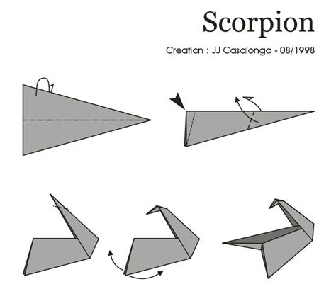 How To Make A Origami Scorpion - instrutions origami 171 embroidery origami