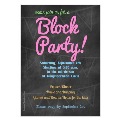block invitation template chalkboard block invitation invitations cards on
