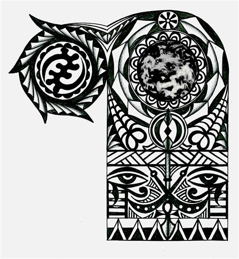 african tribal sleeve tattoos adinkra warrior tribal half sleeve