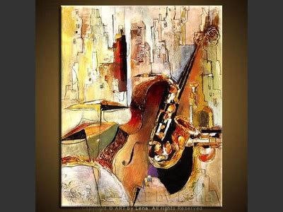 chicago swing original jazz in the city paintings art by lena