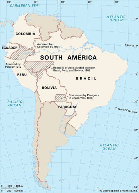 south america map borders south america border wars and redistributed territory