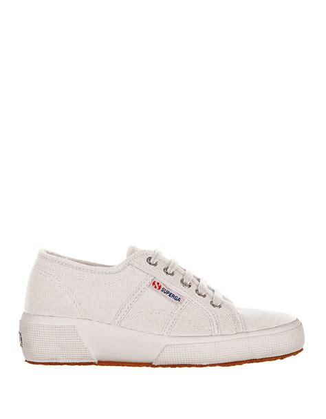 white wedge sneakers superga canvas wedge sneakers in white lyst