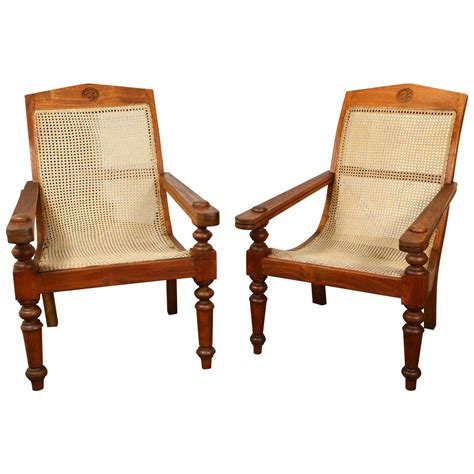 Plantation Chairs by Anglo Indian Plantation Chairs At 1stdibs
