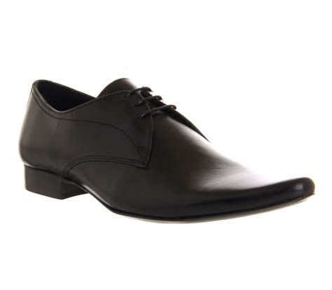 mens office dougie lace black leather formal shoes ebay