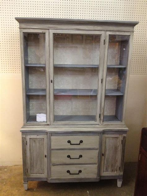 chalk paint old china cabinet refinished shabby chic china cabinet using chalk paint and