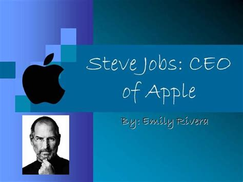 steve jobs powerpoint template steve presentation authorstream