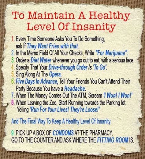 A New Level Of Insanity by How To Maintain A Healthy Level Of Insanity Pictures