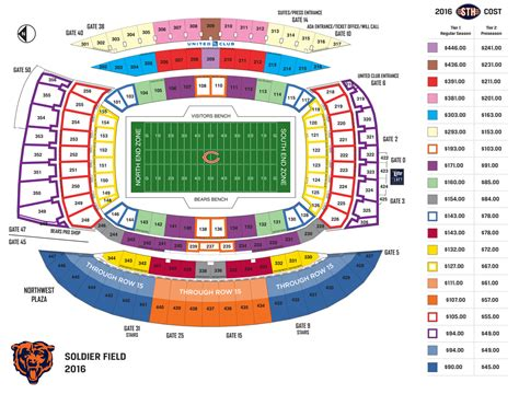 soldier field concert seating view chicago bears soldier field seating chart
