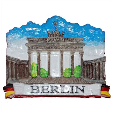 Souvenir Germany Magnet Kulkas Germany resin fridge magnet germany berlin brandenburger tor brandenburg gate