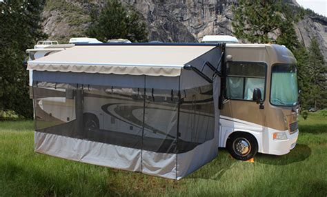 rv awning screens rv screen rooms add a patio room enclosure shop