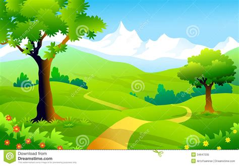 Landscape Illustration Landscape Of Himalaya Vector Illustration Royalty Free