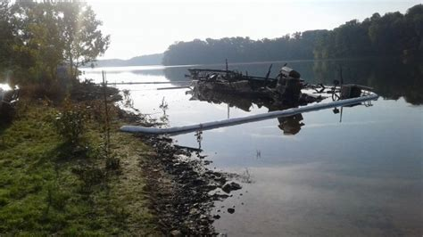 patoka lake houseboats cleanup continues after patoka lake houseboat fire