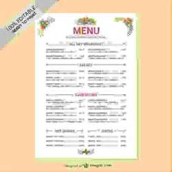 Editable Menu Template by 6 Restaurant Menu Templates Free Procedure Template Sle