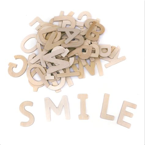 wooden letters 60 pack with wood and