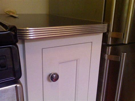 Metal Trim For Countertops by Metal Edged Countertops Kitchen Restoration