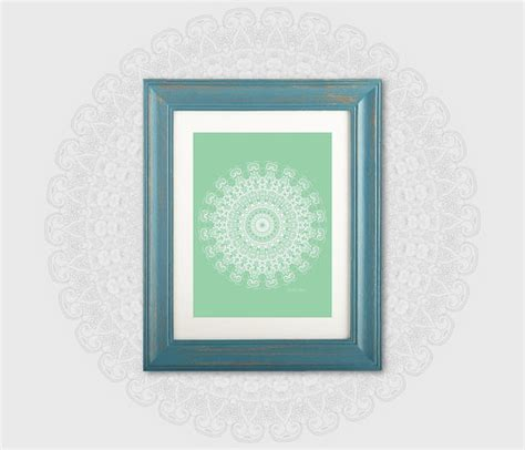 mint green bathroom decor home office wall 11x14 print