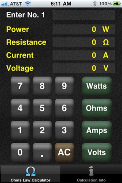 calculator ohm calculate utilization seterms com