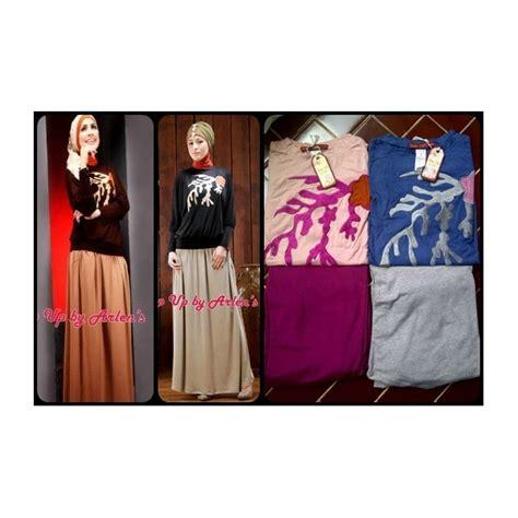 wiena navy bintik putih su najwa baju muslim gamis modern
