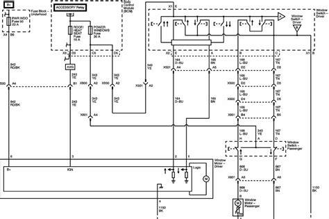 chevy hhr power window wiring diagram get free image