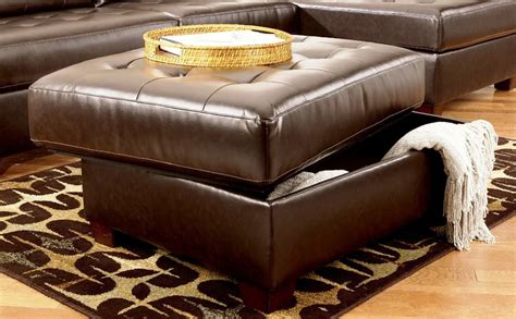 leather ottoman with storage and tray leather ottoman with storage and tray color railing