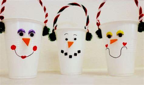 Pupazzi Di Neve Con Bicchieri Di Plastica 10 Lavoretti Di Natale Con Bicchieri Di Plastica O Carta