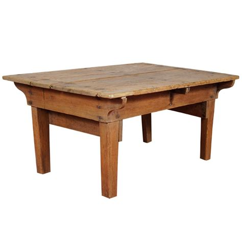 Pine Coffee Table Rustic Country Pine Coffee Table At 1stdibs