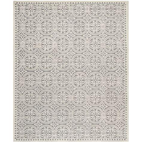 Overstock Rugs 10x14 by Safavieh Handmade Moroccan Cambridge Silver Wool Rug 8 X