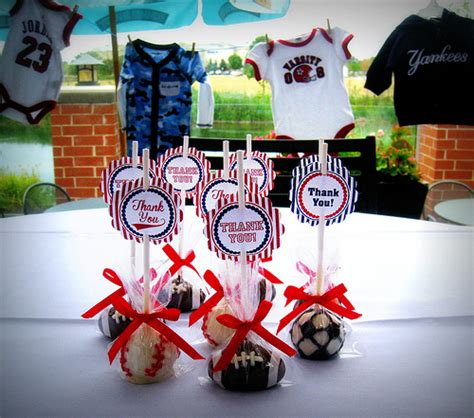 Sports Themed Baby Shower by Sports Themed Baby Shower Cake Pops Flickr Photo