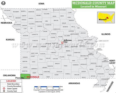 mcdonalds map usa mcdonald county map missouri