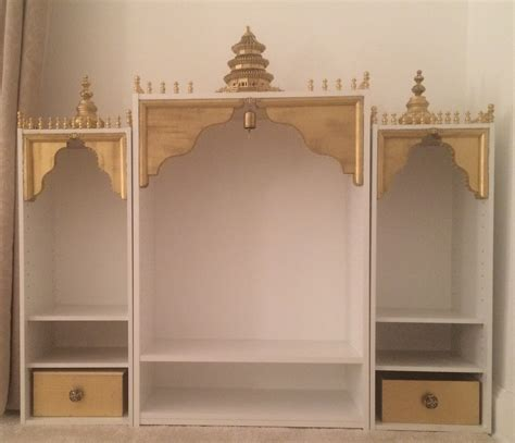 Home Mandir Decoration Pin By Bhoomi Shah On Diy White And Gold Temple Puja Mandir Puja Room Room And