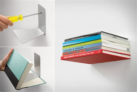 Invisable Shelf by Conceal Shelf Invisible Bookshelf
