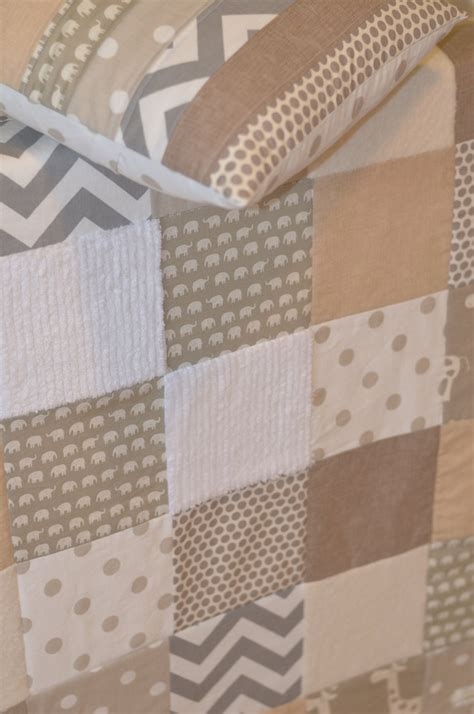 Neutral Baby Quilt by Baby Blanket Neutral Patchwork Baby Blanket Quilt