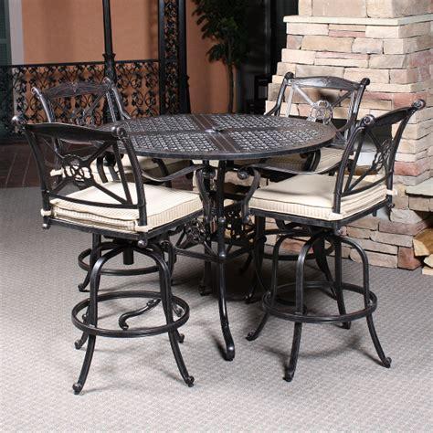 bar table height pedestal table base black metal table