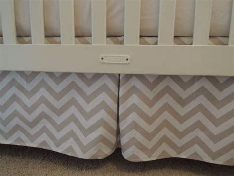 Taupe Chevron Curtains Taupe Chevron Crib Skirt Babylovin