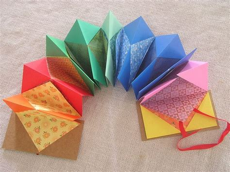 Origami Books With Paper - origami paper accordion book bookbinding