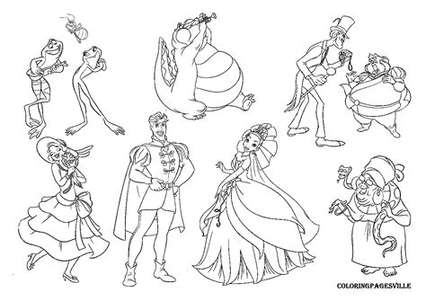 coloring pages princess and the frog free coloring pages of dr facilier