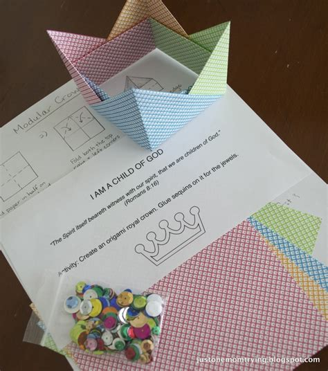 Or Am I Origami - i am a child of god origami crown yw posts
