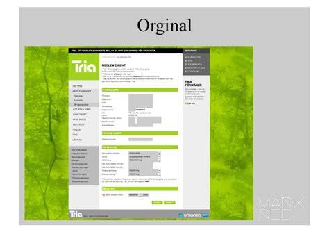 test med tria a b test med website optimizer