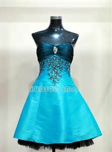 Modern victorian prom dresses short light blue prom dresses