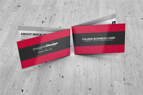 folded business card template photoshop folded business card mockup v1 by idesignstudio net